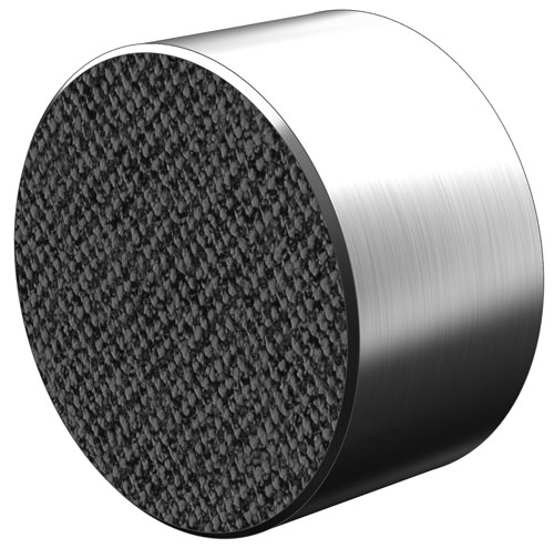 Abrasive Diamond Surface - Tapped Hole Round - Stainless Steel: Tap - 1/4-28