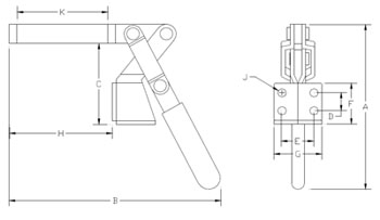 Low Profile Vertical Toggle Clamps : Northwestern Tools :